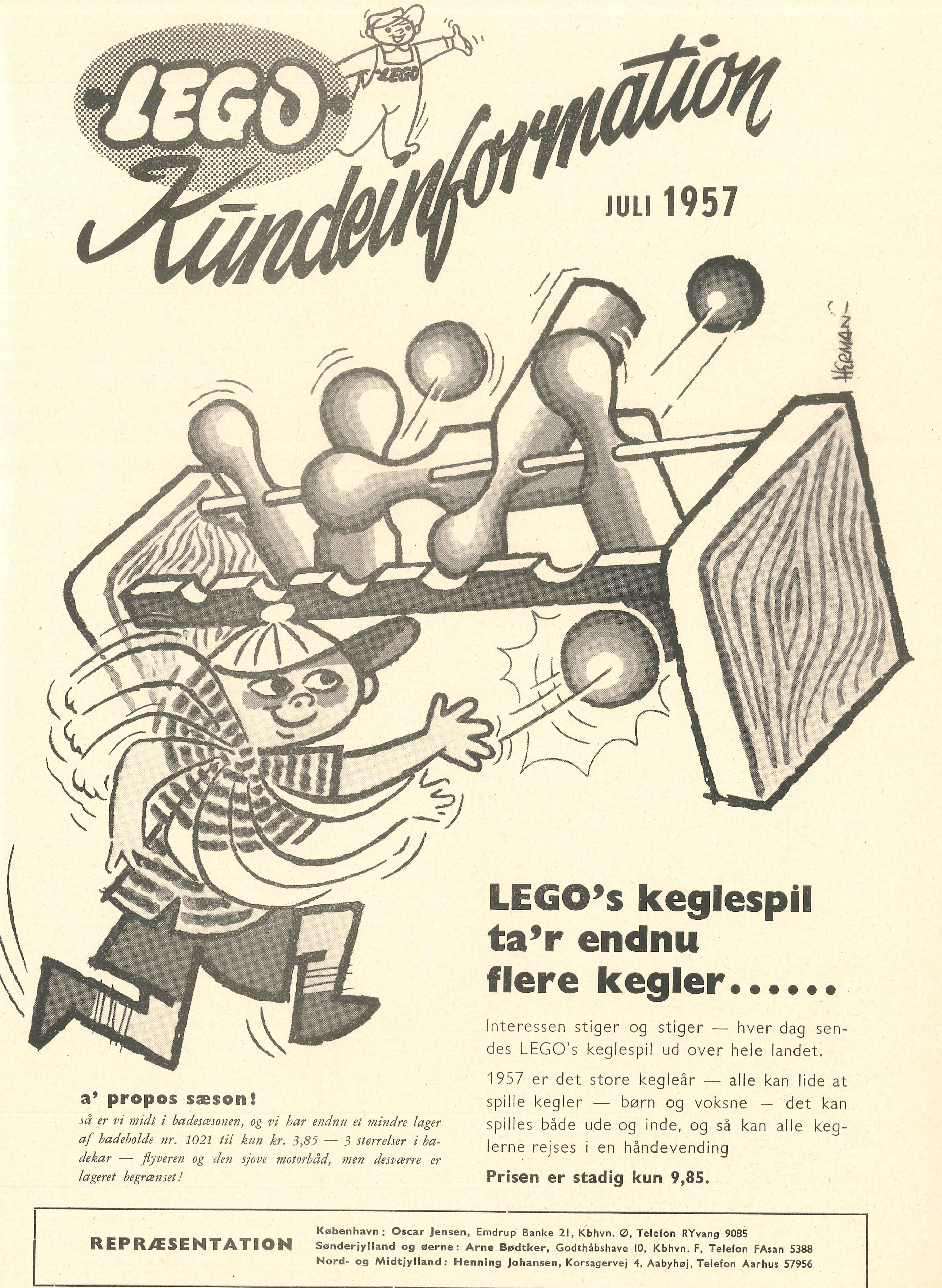 1957 Lego Juli Keglespil