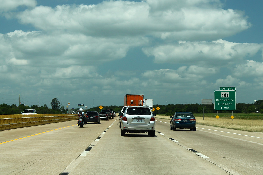 I-10 West - Exit 732 - FM359 One Mile