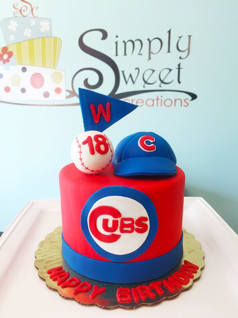 Wondrous Chicago Cubs Cake Simply Sweet Creations Flickr Funny Birthday Cards Online Ioscodamsfinfo