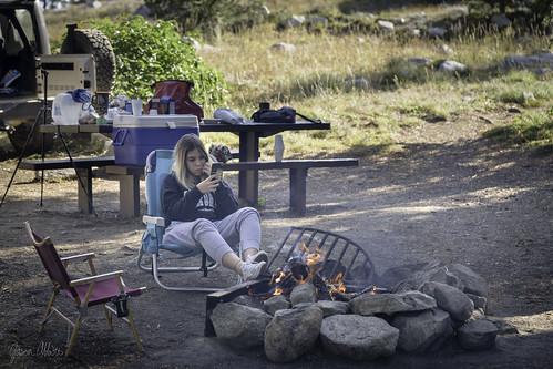 campchair campground camping chair fire gitzo1550t jetboil kermitchair lauraluziardimachado texting
