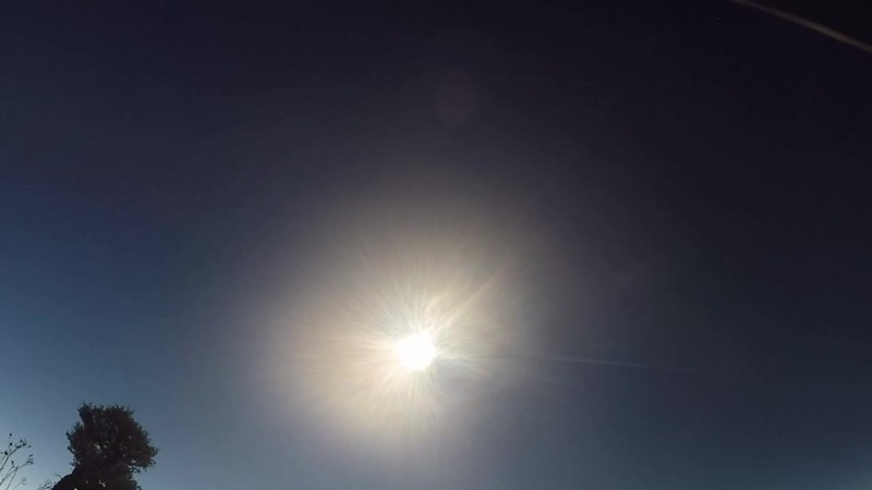 6412 GoPro video looking directly up at the Solar Eclipse Before, During, and After Totality on Dixie Butte