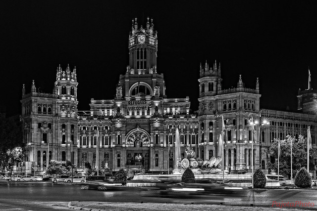 Ayuntamiento de Madrid. Madrid, Spain (Black & White version)