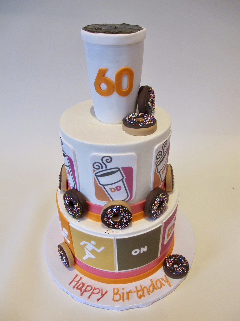 Amazing Birthdays Run On Dunkin Tiered Cake 300994 Creative Cakes Personalised Birthday Cards Paralily Jamesorg