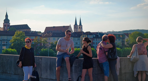 A little wine on Alte Mainbrücke | by Seabird NZ