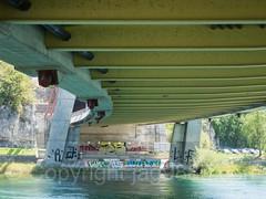 RHE276 Autobahn A4 (Motorway E41) Bridge over the Hochrhein River, Flurlingen ZH - Schaffhausen SH, Switzerland