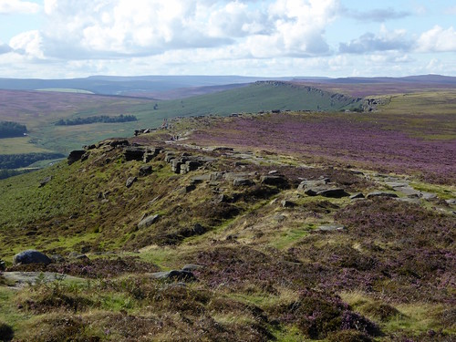 Stanage Edge from the Cowper Stone Sheffield to Bamford walk