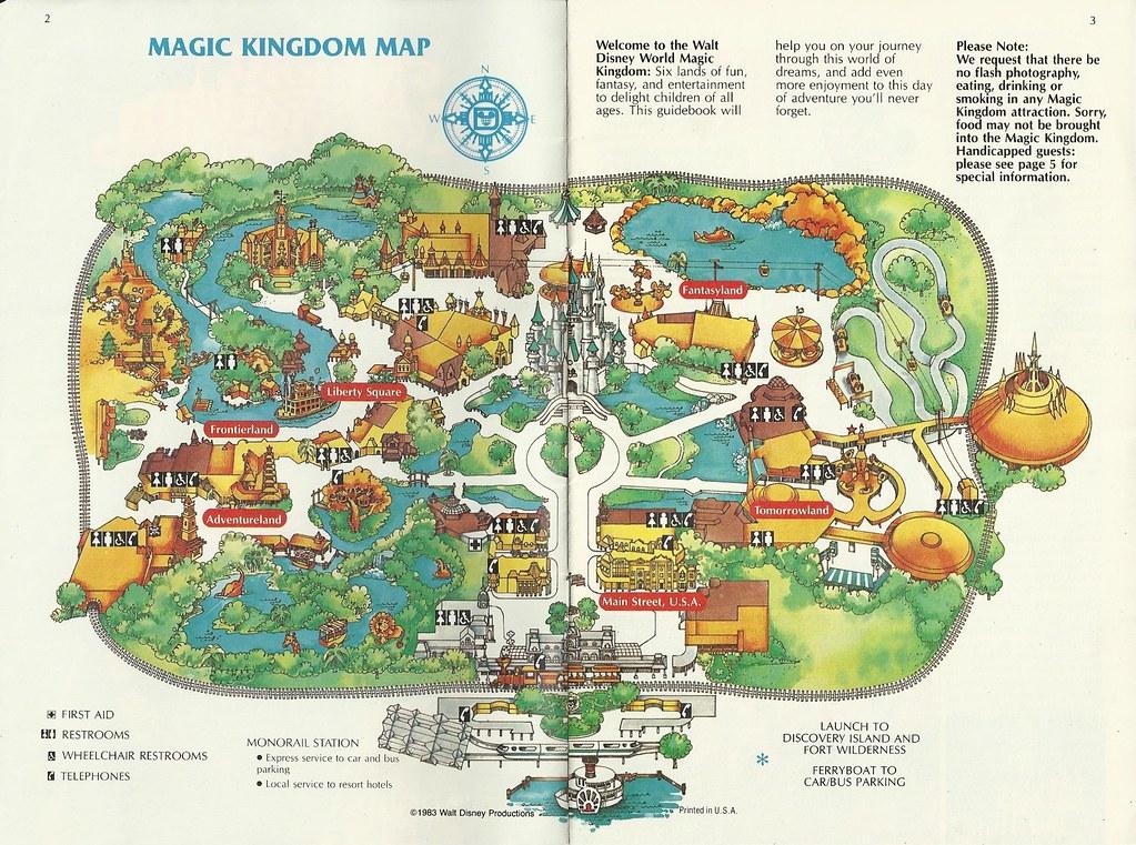 1983 Walt Disney World Magic Kingdom Guide | In August 1983 … | Flickr