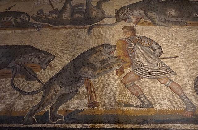 Hunter / Caçador / Venator, mosaic, Galleria Borghese, Roma