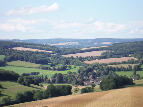 Northerly View from The Trundle: Singleton and the Rother Valley through gap in South Downs main ridge | by thomasgrabow