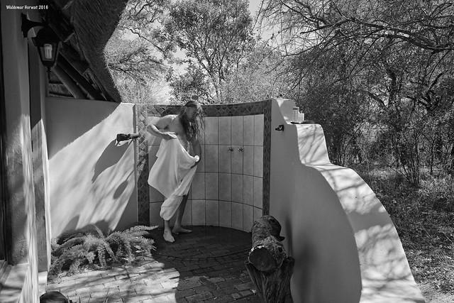 Shower in Botswana Cabin