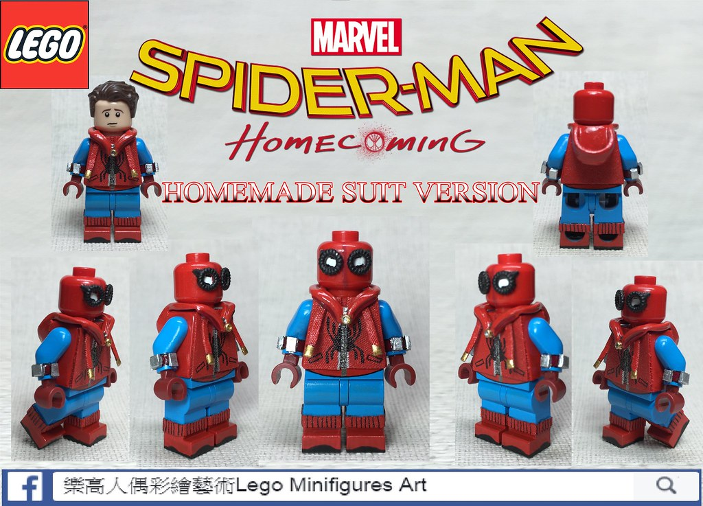 Moc Lego Spider Man Homecoming Homemade Suit Lma Customs Flickr