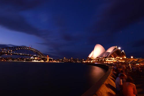 sydney australia oceania water ocean lights long exposure sigma people september clouds spring skyscrapers night nightphotography opera house reflection reflections harbour bridge circular quay star lamps sunsets sunrises sunrise sunset building buildings