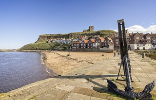 Whitby: Anchor and beach   by jack cousin