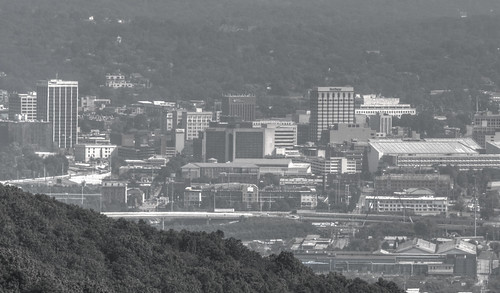 chattanooga tennessee bw blackandwhite city cityscape skyline mountain chattanoogatn chattanoogatennessee