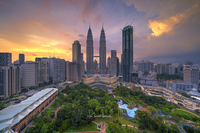 Sunset over Kuala Lumpur City Centre I