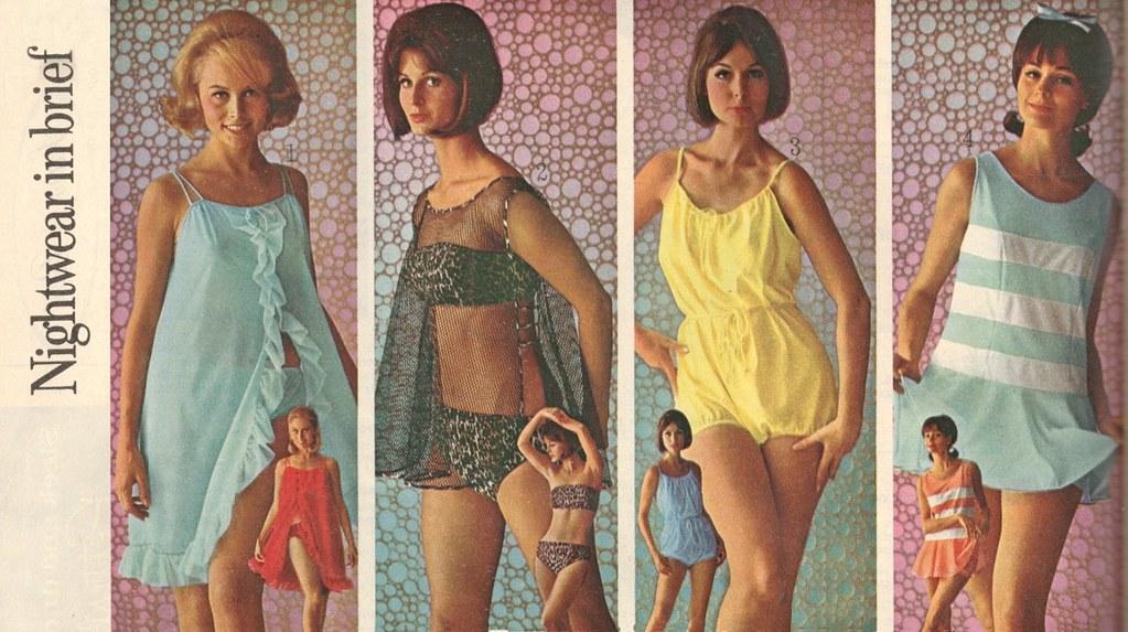 Sears Catalog 1960's, Ladies Sleepwear
