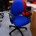 Blue swivel chair with arms ex demo E125