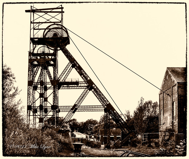 The iconic Pithead gear of a Coal Mine