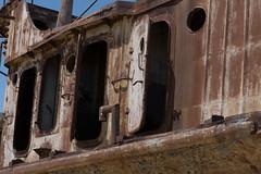 Rusting boats - mainly fishing boats.