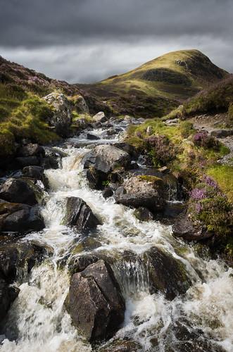 loch skeen greymarestail waterfall rocks landscape