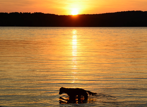Portage Lake Sunset Sept 2017   by Jared_bailey's