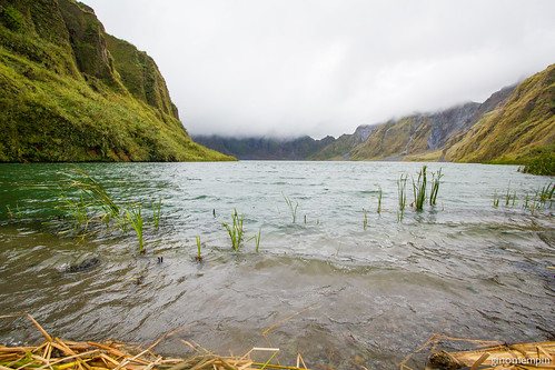 pinatubocrater pinatubo trek volcano crater lake mountains hills clouds canon1022 wide