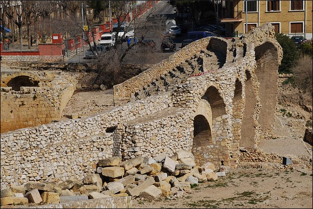 Anfiteatro Romano (Tarragona, Cataluña, España, 10-3-2012)