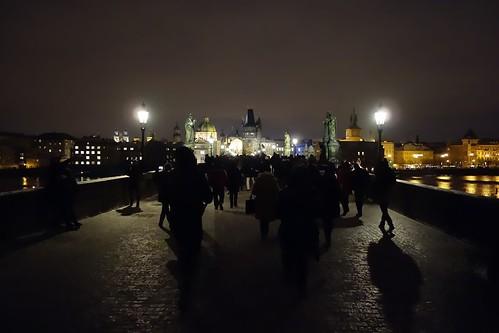 Charles Bridge at night, Prague   by rhespel