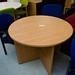 Oak 1000 diameter circular meeting table  E125