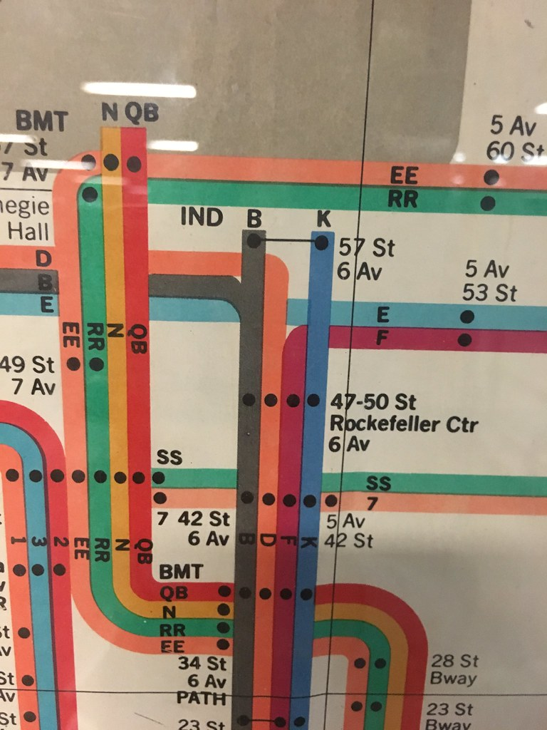 Nyc Subway Map By Massimo Vignelli.Massimo Vignelli Nyc Subway Map Detail Oinonio Flickr