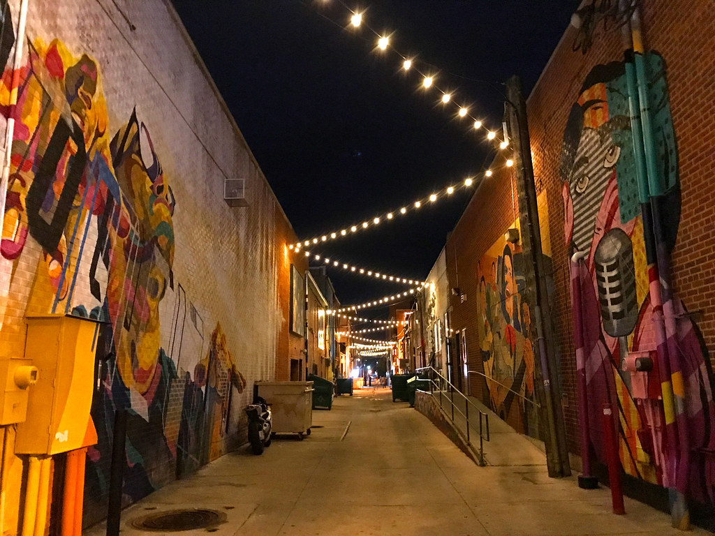 Art Alley at Night | Greeley's Art Alley is between the ...