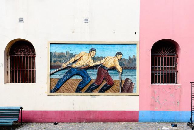 Arte en la pared I (El Caminito)