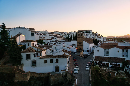 ronda andalucía spain es 2015 architecture church fountain gothic mountain road roof tower town arch