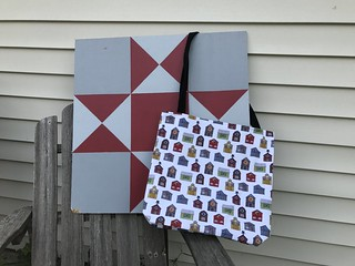 Barn Quilt pattern on bag from Society6 | by robayre