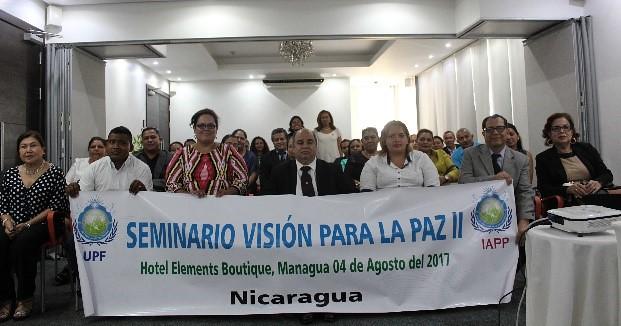 Nicaragua-2017-08-04-Nicaraguan Ambassadors for Peace Attend 'Vision for Peace' Seminar