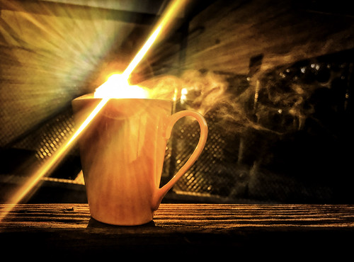 5:59. A little sun in hot coffee... :- )) | by Natalia Medd