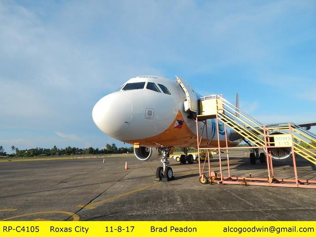 Roxas City Airport - C-RP4105 preparing for the return flight to Manila. 11-8-17    (Roxas City, Panay Island, Philippines)