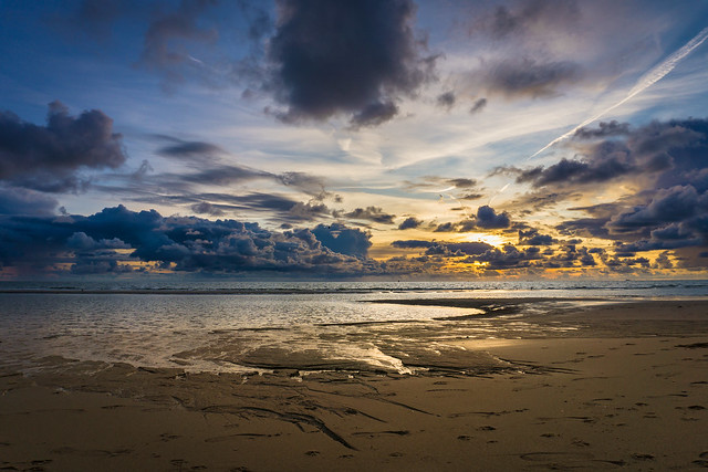 Sunset Maasvlaktestrand