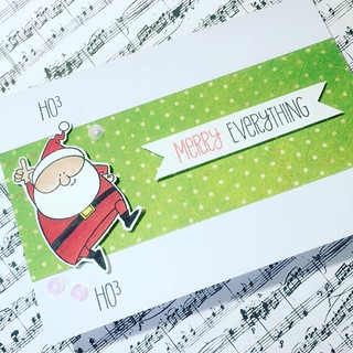 Entering this CAS card into the CAS Colours and Sketches #242 challenge. Also entering in Sweet Stampin Christmas challenge and Weekly Christmas Card Challenge #22. I used My Favorite Things Jingle All the Way stamps - such a fun Christmas stamp set. | by cscholes013