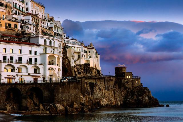 Amalfi au coucher du soleil