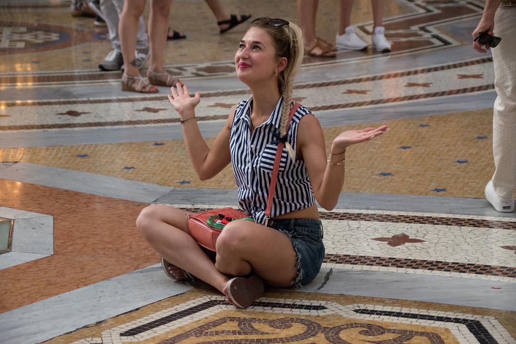 Worshipping in Milan's palace of consumerism (Galleria Vittorio Emanuele II)