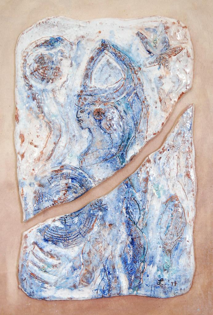 Leonnie van Eert, 'Libisani 1', ceramic relief, 31x49x3cm, 2017 - USD 250