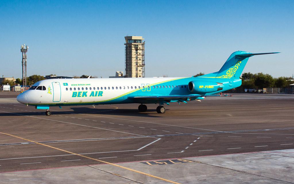 GUW Fokker F100 UP-F1005 Bek Air
