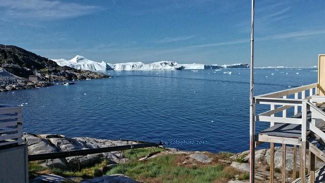 Ilulissat-Grönland / Blick zum Gletscher(Jacobshavn)