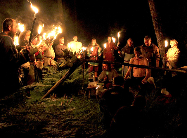 Good Viking friends gave extra energy to the ritual.