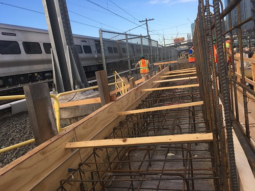 Formwork and rebar in advance of a concrete pour at the East Approach for the planned Amtrak Westbound Bypass Tunnel which will send trains below the existing LIRR tracks. (CH057A, 9-13-2017) | by MTACC - EAST SIDE ACCESS