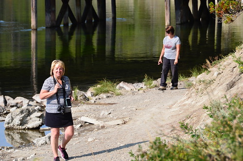 Yellowstone Fishing bridge Sandy and Tammie | by Pierre Yeremian
