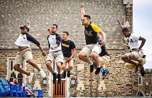 That #FridayFeeling courtesy of the brothers of Alpha Phi Alpha.
