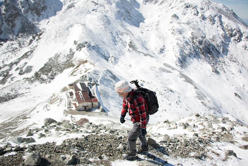 立山の急斜面