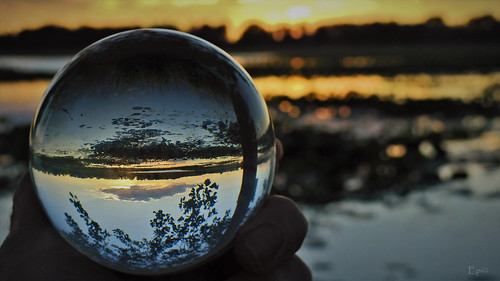 lensball sunset colorful nature lake nikond610